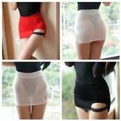 Women High Waist Sexy Short Micro Mini Skirt Stretchy Tights KT