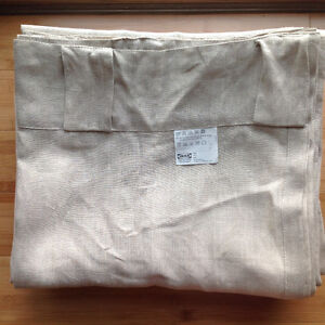 100% linen curtains from Ikea