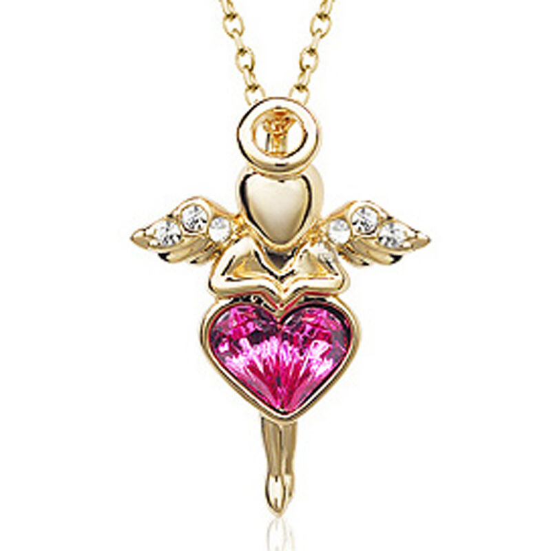 Gold Guardian Angel Necklace Uk