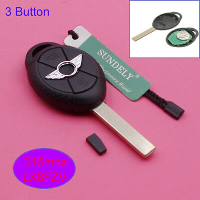 Uncut Keyless Entry Remote Key Fob 315/433Mhz ID44 for BMW Mini Cooper S R50 R53