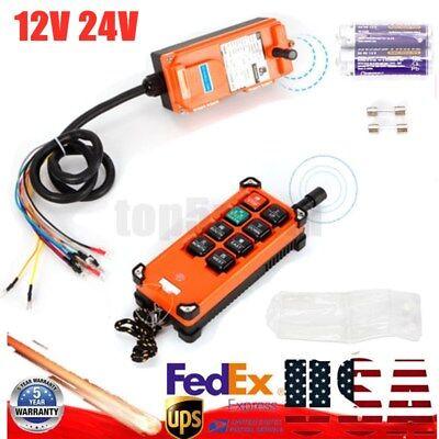 Industrial Transmitterreceiver Hoist Crane Radio Remote Control Wireless 1224v