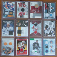 CARTES HOCKEY MINT ,JERSEY,PATCH,PUCK,STICK,PATIN ,NUMÉROTÉ