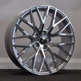 """19"""" R8 Style Alloy Wheels & Tyres. Suitable for most Audi A4, A5 and A6 5x112"""