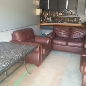 3 set leather couches