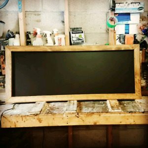 Custom-made rustic chalkboard