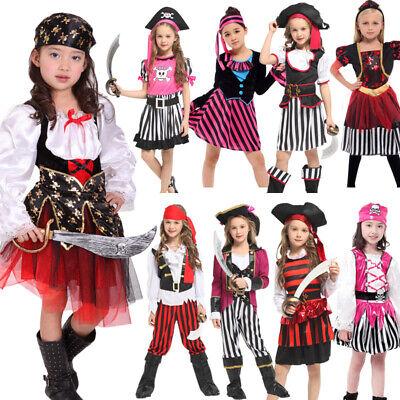 Girl Pirate Costumes For Halloween (Halloween Party Costumes for Girls Pirate Costume Captain Cosplay Suit)