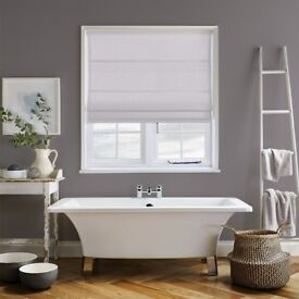 2 x PANAMA SILVER ROMAN BLINDS by Direct Blinds 44 x 45cm