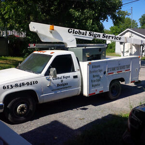 Full Service Sign Shop with a 30' Bucket truck