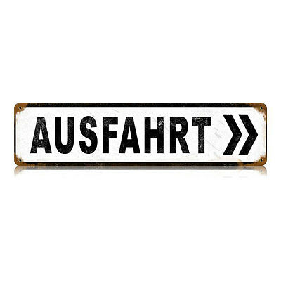 "Vintage Style Retro Ausfahrt German Authobahn Exit Steel Metal Sign 20"" x 5"""