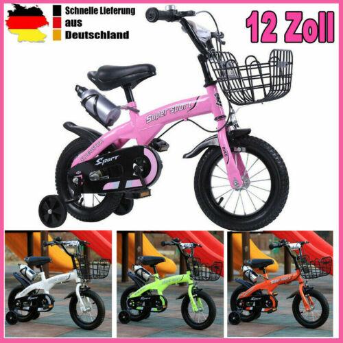 12 Zoll Kinderfahrrad mit Stützräder Kinderrad Fahrrad Spielrad  Mädchenfahrrad