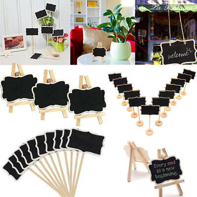 1-20Pcs Mini Wooden Chalkboard Blackboard Message Table Small Note Chalk Board - Small Chalkboards