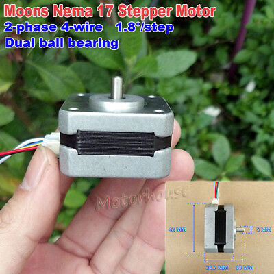 Stepper Motor Nema17 5mm Short Shaft Diy Reprap Cnc Prusa Rostock 3d Printer