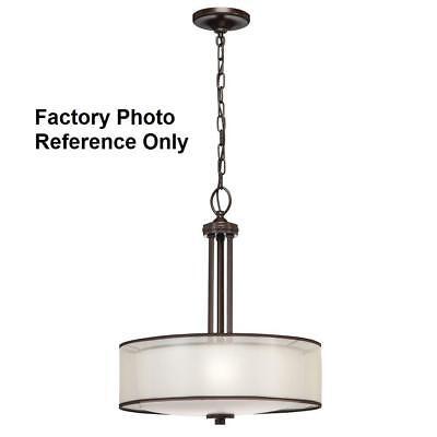 Hampton Bay 3-Light Bronze Organza Pendant (Organza Pendant Light)