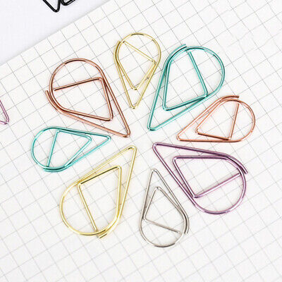 5PCS/Pack Teardrop Shaped Paper Clips for Bookmark Office School Notebook - Shaped Paper Clips