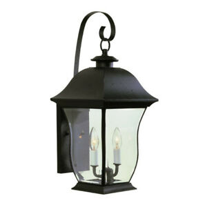 2 Outdoor Lantern Style Lights (DARK BROWN) -  (2 LAMPS)