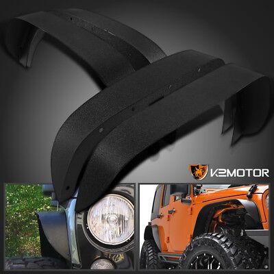 2007-2017 Jeep Wrangler JK 4PC Textured Black Steel Flat Fender Flares