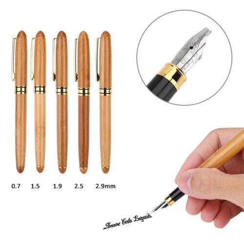 Bamboo Calligraphy Art Fountain Pen Broad Stub Chiselpointed Nib Writing HighQ