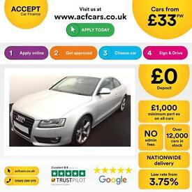 Audi A5 3.0TDI ( DPF ) 3d 2008MY quattro Sport FROM £33 PER WEEK!