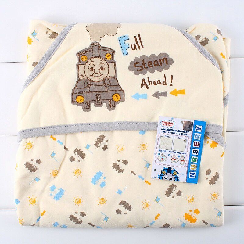 THOMAS /& FRIENDS NEW BORN 100/% COTTON HOLDING BABY BLANKET 100301