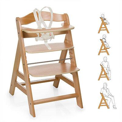 Hauck Hochstuhl Holz Baby Kinder Alpha + Plus - Natur  / bis 90 kg, verstellbar online kaufen