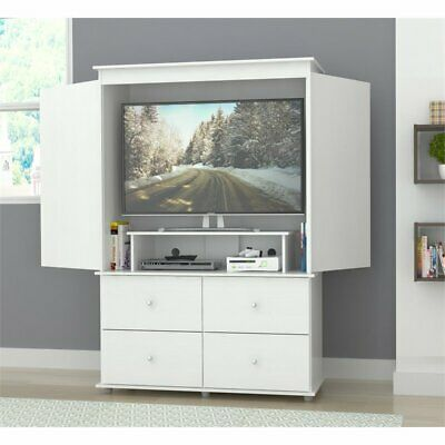 Inval Washed Oak TV Armoire