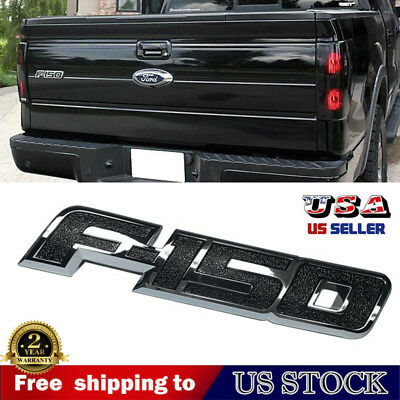 For 2009-2014 Ford F150 F-150 Chrome Black Trunk Rear Tailgate Emblem Nameplate, used for sale  USA