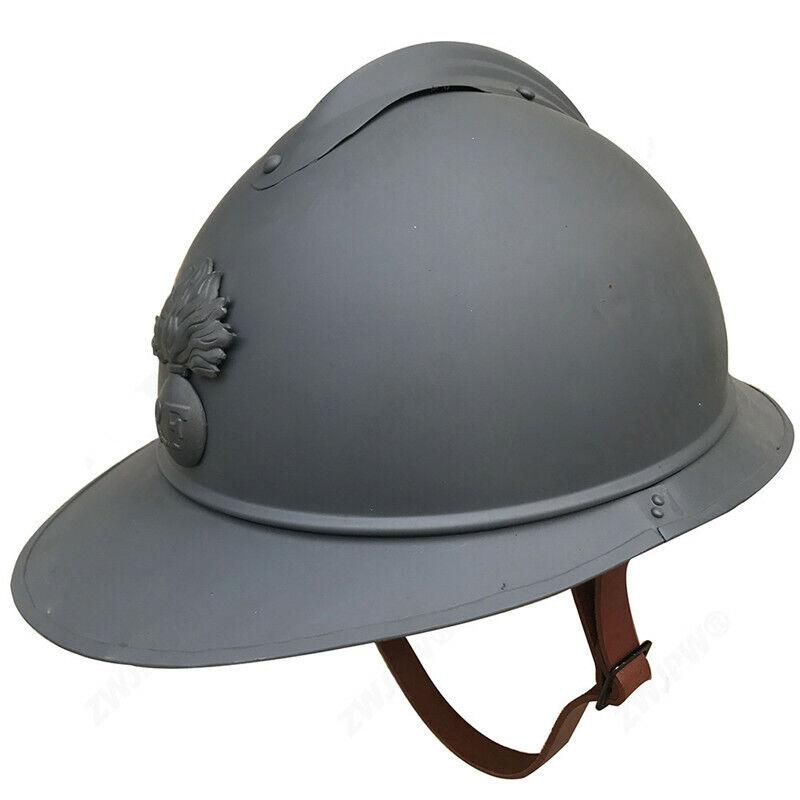 WWI French Adrian Helmet Steel Military Soldier Type M1915 Infantry Helmet Gift