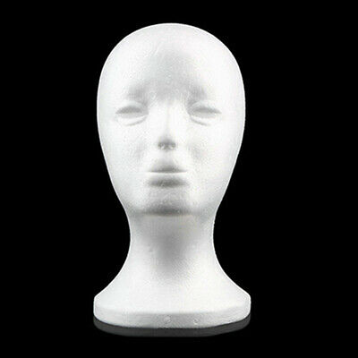 Practical Foam Female Mannequin Head Wigs Glasses Hat Display Holder Stand Model