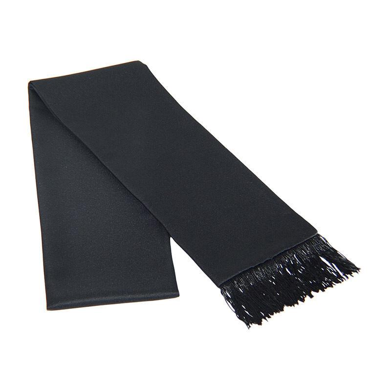 Black Satin Formal Tuxedo Scarf