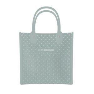 Let's Do Lunch Polka Dot Lunch Bag Tote Insulated Thermal Cooler Green Danielle