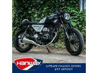 Hanway 125cc Black Cafe Racer retro street naked motorbike learner legal bike