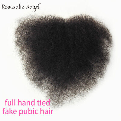Fake Pubic Hair Human Body Hair Private Use Silicone dolls Swiss Lace Hand Tied