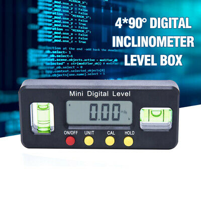 490 Magnet Digital Inclinometer Level Box Protractor Angle Finder Bevel Gauge