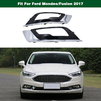 Front Bumper Grille Fog Lamp Chrome Trim Bezel Cover For Ford Mondeo/Fusion 2017