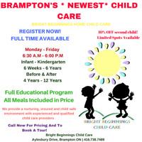 Brand **NEW** Child Care in Brampton!