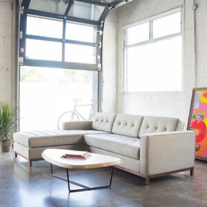 grey fabric sectional sofa couch for sale