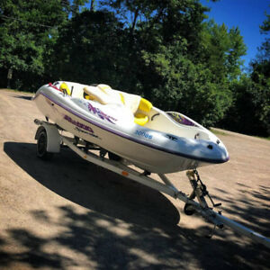 1996 Seadoo Speedster! Runs Great! Very fast boat with Trailer!