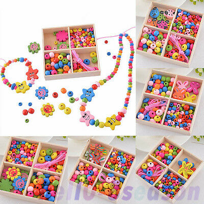 1Box Girls Boys Children Friendship Beads Jewelry Making Kit Kids Creative Craft