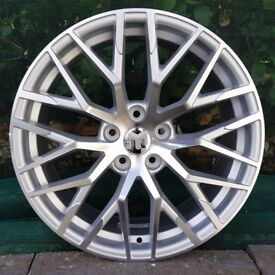 """18"""" R8 Performance Alloys and tyres for 5x112 VW Audi Seat Etc"""