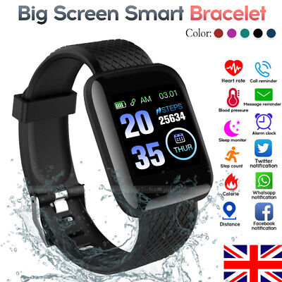 For HUAWEI iPhone Samsung Smart Watch Blood Pressure Heart Rate Fitness Tracker