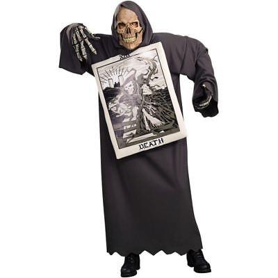 Carta de Tarot Sombría Muerte Segador Máscara Calavera Halloween Cosplay Traje