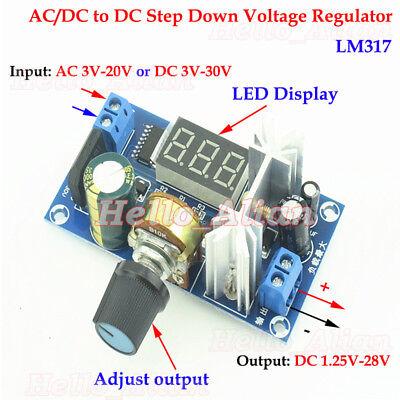 Acdc To Dc Adjustable Step Down Volt Converter 3.3v 5v 9v 12v 24v Power Supply