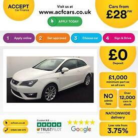 Seat Ibiza 1.2 TSI SportCoupe 2012MY FR FROM £28 PER WEEK !