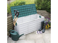 Garden Storage Box Green & Grey