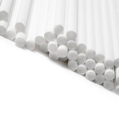 50 White Plastic Lollipop Lolly Lollypop Cake Pop Sticks 6 inch