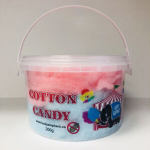 LUCKY ELEPHANT PRE-PACKAGED CANDY FLOSS TUBS - 24 X 200G/CASE
