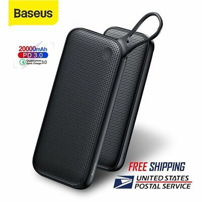 Baseus 20000mAh Power Bank USB Type C PD Fast Charging Laptop External Battery