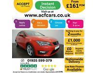 2014 RED SEAT LEON 2.0 TDI 184 FR TECHNOLOGY 5DR HATCH CAR FINANCE FR £161 PCM