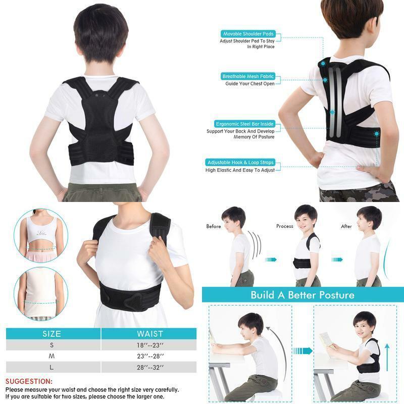 Posture Corrector For Kids, Upper Back Posture Brace For Tee