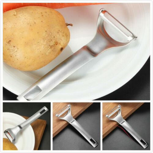 Stainless Steel Kitchen Y-type Planing Scraping Peeler For F
